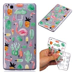 Cactus Flamingos Super Clear Soft TPU Back Cover for Huawei P9 Lite G9 Lite