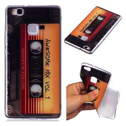 Retro Cassette Tape Super Clear Soft TPU Back Cover for Huawei P9 Lite G9 Lite