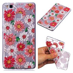 Chrysant Flower Super Clear Soft TPU Back Cover for Huawei P9 Lite G9 Lite