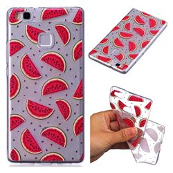 Red Watermelon Super Clear Soft TPU Back Cover for Huawei P9 Lite G9 Lite