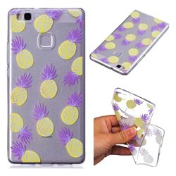 Carton Pineapple Super Clear Soft TPU Back Cover for Huawei P9 Lite G9 Lite