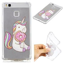 Donut Unicorn Anti-fall Clear Varnish Soft TPU Back Cover for Huawei P9 Lite G9 Lite