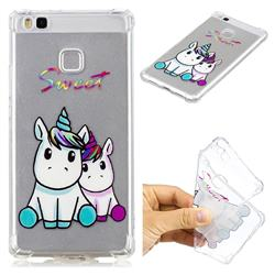 Sweet Unicorn Anti-fall Clear Varnish Soft TPU Back Cover for Huawei P9 Lite G9 Lite