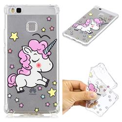 Star Unicorn Anti-fall Clear Varnish Soft TPU Back Cover for Huawei P9 Lite G9 Lite