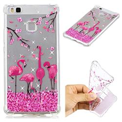 Cherry Flamingo Anti-fall Clear Varnish Soft TPU Back Cover for Huawei P9 Lite G9 Lite