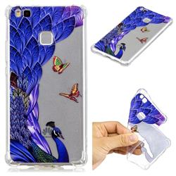 Peacock Butterfly Anti-fall Clear Varnish Soft TPU Back Cover for Huawei P9 Lite G9 Lite