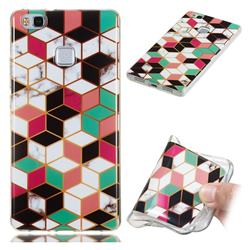 Three-dimensional Square Soft TPU Marble Pattern Phone Case for Huawei P9 Lite G9 Lite