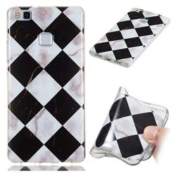 Black and White Matching Soft TPU Marble Pattern Phone Case for Huawei P9 Lite G9 Lite