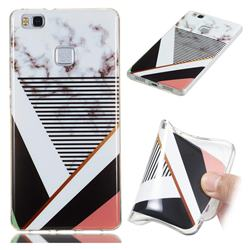 Pinstripe Soft TPU Marble Pattern Phone Case for Huawei P9 Lite G9 Lite