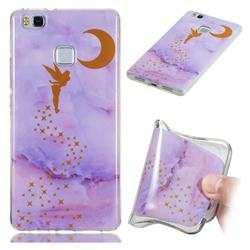 Elf Purple Soft TPU Marble Pattern Phone Case for Huawei P9 Lite G9 Lite