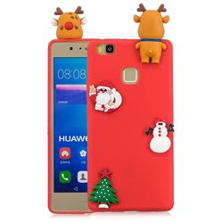 Red Elk Christmas Xmax Soft 3D Silicone Case for Huawei P9 Lite G9 Lite
