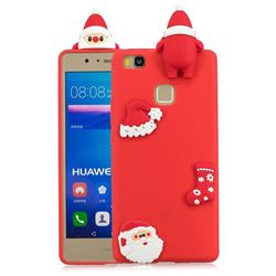 Red Santa Claus Christmas Xmax Soft 3D Silicone Case for Huawei P9 Lite G9 Lite