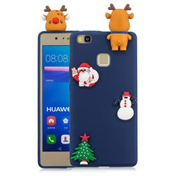 Navy Elk Christmas Xmax Soft 3D Silicone Case for Huawei P9 Lite G9 Lite