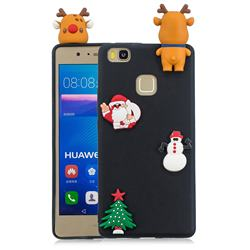 Black Elk Christmas Xmax Soft 3D Silicone Case for Huawei P9 Lite G9 Lite