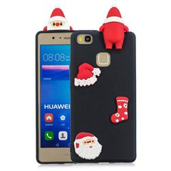 Black Santa Claus Christmas Xmax Soft 3D Silicone Case for Huawei P9 Lite G9 Lite