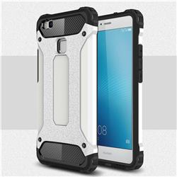 King Kong Armor Premium Shockproof Dual Layer Rugged Hard Cover for Huawei P9 Lite G9 Lite - White