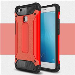 King Kong Armor Premium Shockproof Dual Layer Rugged Hard Cover for Huawei P9 Lite G9 Lite - Big Red