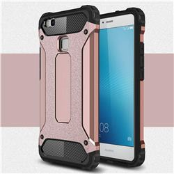 King Kong Armor Premium Shockproof Dual Layer Rugged Hard Cover for Huawei P9 Lite G9 Lite - Rose Gold