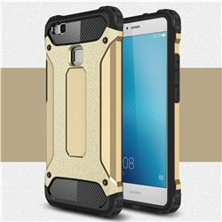 King Kong Armor Premium Shockproof Dual Layer Rugged Hard Cover for Huawei P9 Lite G9 Lite - Champagne Gold