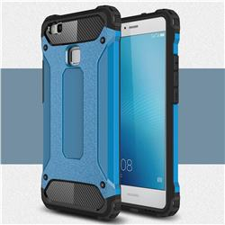 King Kong Armor Premium Shockproof Dual Layer Rugged Hard Cover for Huawei P9 Lite G9 Lite - Sky Blue