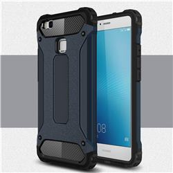 King Kong Armor Premium Shockproof Dual Layer Rugged Hard Cover for Huawei P9 Lite G9 Lite - Navy