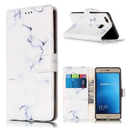 Soft White Marble PU Leather Wallet Case for Huawei P9 Lite P9lite