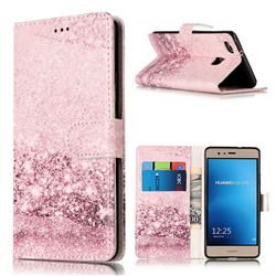 Glittering Rose Gold PU Leather Wallet Case for Huawei P9 Lite P9lite