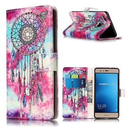Butterfly Chimes PU Leather Wallet Case for Huawei P9 Lite P9lite