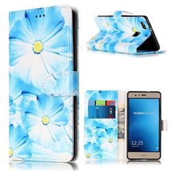 Orchid Flower PU Leather Wallet Case for Huawei P9 Lite P9lite
