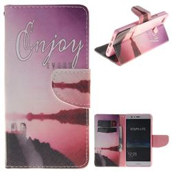 Seaside Scenery PU Leather Wallet Case for Huawei P9 Lite G9 Lite