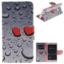 Heart Raindrop PU Leather Wallet Case for Huawei P9 Lite G9 Lite