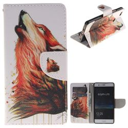 Color Wolf PU Leather Wallet Case for Huawei P9 Lite G9 Lite