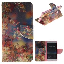 Colored Flowers PU Leather Wallet Case for Huawei P9 Lite G9 Lite
