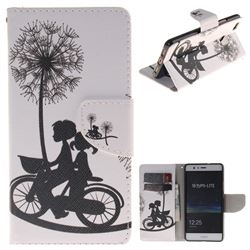 Cycling Dandelion PU Leather Wallet Case for Huawei P9 Lite G9 Lite