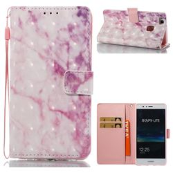 Pink Marble 3D Painted Leather Wallet Case for Huawei P9 Lite G9 Lite
