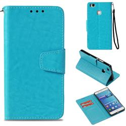 Retro Phantom Smooth PU Leather Wallet Holster Case for Huawei P9 Lite G9 Lite - Sky Blue