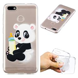 Baby Panda Super Clear Soft TPU Back Cover for Huawei P9 Lite Mini (Y6 Pro 2017)