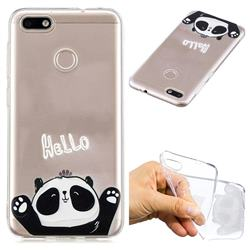 Hello Panda Super Clear Soft TPU Back Cover for Huawei P9 Lite Mini (Y6 Pro 2017)