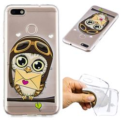 Envelope Owl Super Clear Soft TPU Back Cover for Huawei P9 Lite Mini (Y6 Pro 2017)