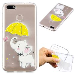 Umbrella Elephant Super Clear Soft TPU Back Cover for Huawei P9 Lite Mini (Y6 Pro 2017)