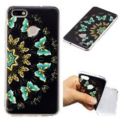 Circle Butterflies Super Clear Soft TPU Back Cover for Huawei P9 Lite Mini (Y6 Pro 2017)