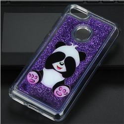 Naughty Panda Glassy Glitter Quicksand Dynamic Liquid Soft Phone Case for Huawei P9 Lite Mini (Y6 Pro 2017)