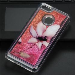 Lotus Glassy Glitter Quicksand Dynamic Liquid Soft Phone Case for Huawei P9 Lite Mini (Y6 Pro 2017)