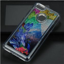 Phoenix Glassy Glitter Quicksand Dynamic Liquid Soft Phone Case for Huawei P9 Lite Mini (Y6 Pro 2017)