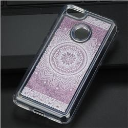 Mandala Glassy Glitter Quicksand Dynamic Liquid Soft Phone Case for Huawei P9 Lite Mini (Y6 Pro 2017)