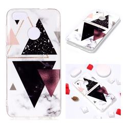 Four Triangular Soft TPU Marble Pattern Phone Case for Huawei P9 Lite Mini (Y6 Pro 2017)