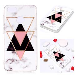 Inverted Triangle Black Soft TPU Marble Pattern Phone Case for Huawei P9 Lite Mini (Y6 Pro 2017)