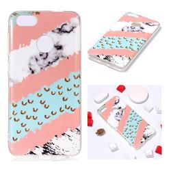 Diagonal Grass Soft TPU Marble Pattern Phone Case for Huawei P9 Lite Mini (Y6 Pro 2017)