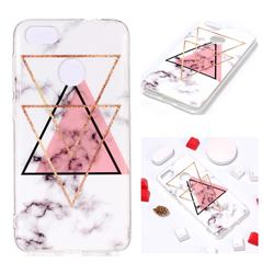 Inverted Triangle Powder Soft TPU Marble Pattern Phone Case for Huawei P9 Lite Mini (Y6 Pro 2017)