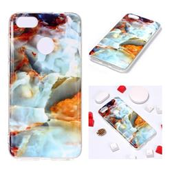 Fire Cloud Soft TPU Marble Pattern Phone Case for Huawei P9 Lite Mini (Y6 Pro 2017)
